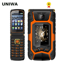 UNIWA X9 X28 Flip Mobile Senior Phone 16800mAh GSM Big Push-Button Dual SIM FM Russian Hebrew Keyboard Handwriting SOS Phone