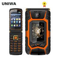 UNIWA X9 X28 Flip Mobile Senior Telefon 16800mAh GSM Big Push-Taste Dual SIM FM Russische Hebräisch Tastatur handschrift SOS Telefon