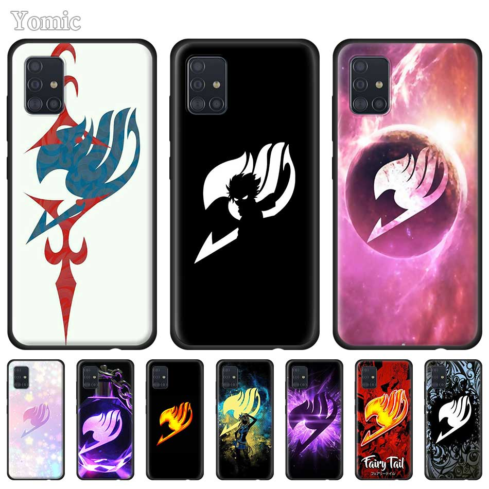 Phone Cover for <font><b>Samsung</b></font> Galaxy A51 <font><b>A50</b></font> A71 A70 A10 A20 E A30 S A31 A40 A41 TPU Black Soft <font><b>Case</b></font> Coque Fairy Tail Logo image