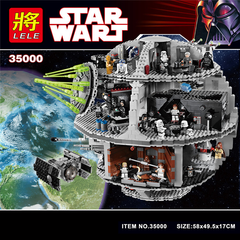 35000 Star Wars Building Blocks Bricks Death Star Wars TIE Fighter Compatible LegoINGlys 10188 Educational Toys For Kids Gifts