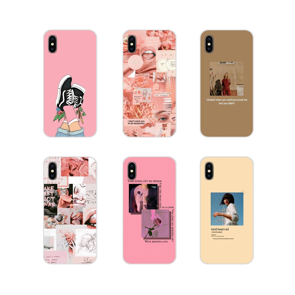 Pink Aesthetics Aesthetic For Motorola Moto X4 E4 E5 G5 G5S G6 Z Z2 Z3 G G2 G3 C Play Plus Accessories Phone Shell Covers