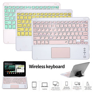 Portable Mini Wireless Bluetooth Keyboards With Touchpad 10 inch Universal Keyboard For iPad Samsung Tab Tablet For Smartphones