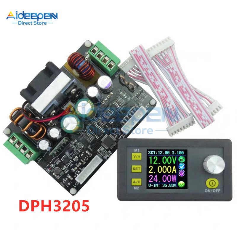 DPH3205 DC 6-40V 160W CNC Buck-boost Converter Constante Spanning Stroom Voeding Module Programmeerbare controle LCD Voltmeter
