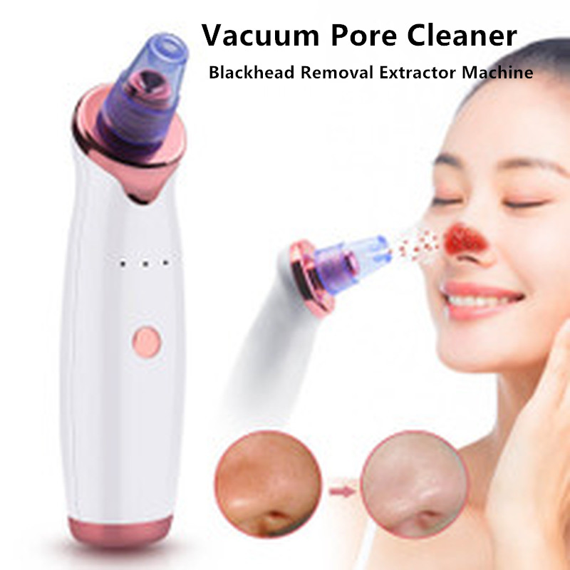 Electric Facial Vacuum Pore Cleaner Acne Blackhead Removal Extractor Machine USB Rechargeable Spot Cleaner Beauty Skin Care Tool