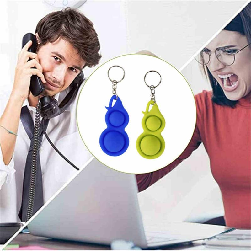 Fidget-Sensory-Toys Keychain Dimple-Toys It Fidget Gifts Anti-Stress-Pop Push Bubble img3