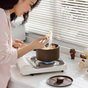 Image 2 - Mini süt tavaları noel hediyesi çikolatalı süt çorbası yapışmaz pişirme kabı için genel kullanım gaz ve indüksiyon ocak