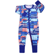 Baby Romper Infant Cotton Long Sleeve Clothes Boy Zippered One-Pieces Girl Print Jumpsuit Born Crawling Toddler Bodysuit