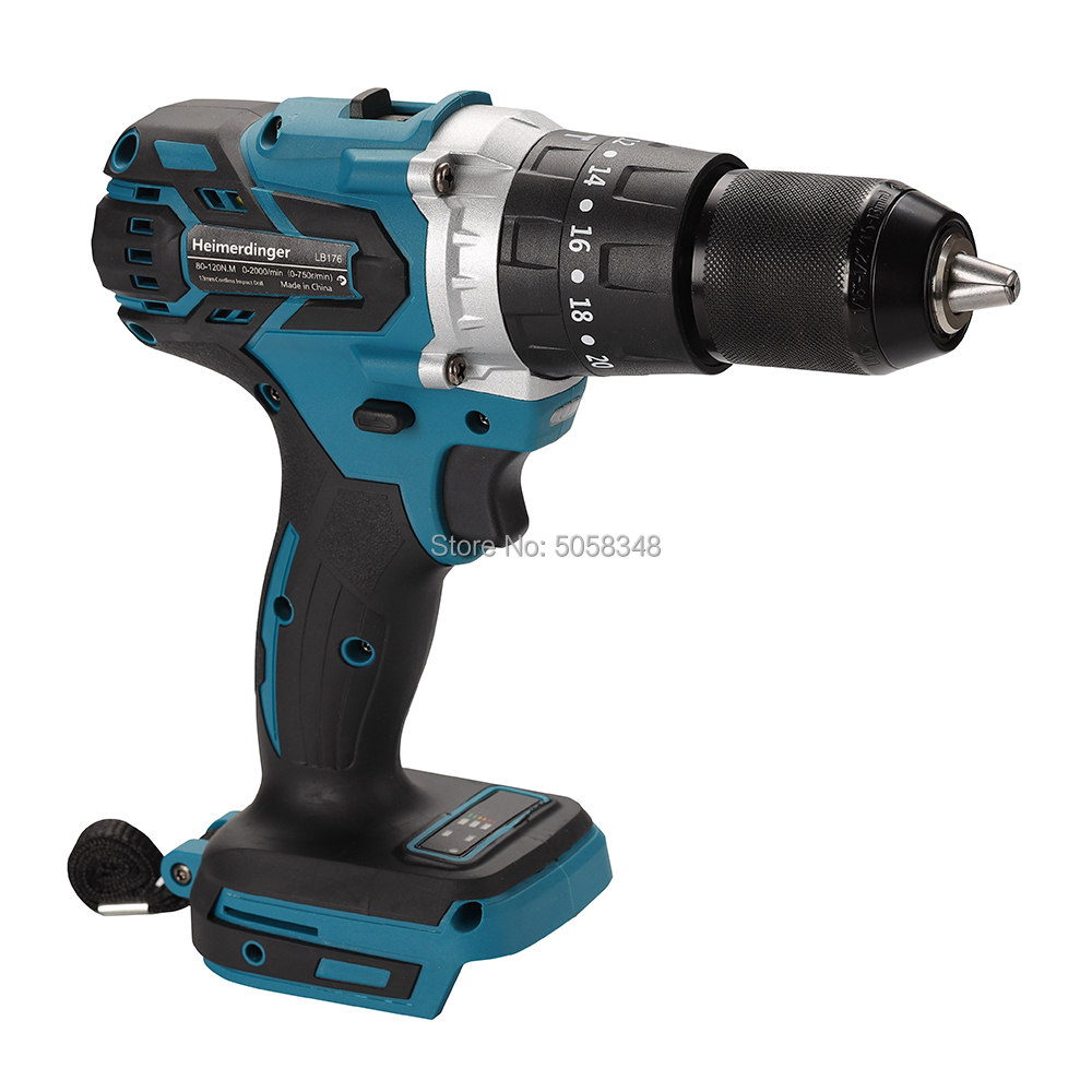 18V 13mm cordless impact drill brushless impact drill screwdriver drill body compatible 1830 1840 1850 1860