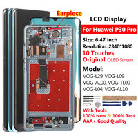 Raugee Original LCD For Huawei P30 Pro VOG L29 L09 L04 LCD Display 10 Touches Screen For Huawei P 30 P30 Pro Display Replacement