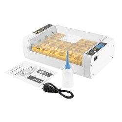 Praktische 24 Eieren Grote Capaciteit Mini Incubator Voor Kip Gevogelte Kwartel Kalkoen Eieren Thuisgebruik Automatische Ei Draaien Drop Schip