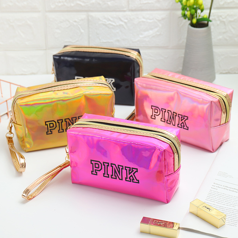 New Fashion Waterproof Laser Cosmetic Bags Women Neceser Make Up Bag PU Pouch Wash Toiletry Bag Travel Organizer Case