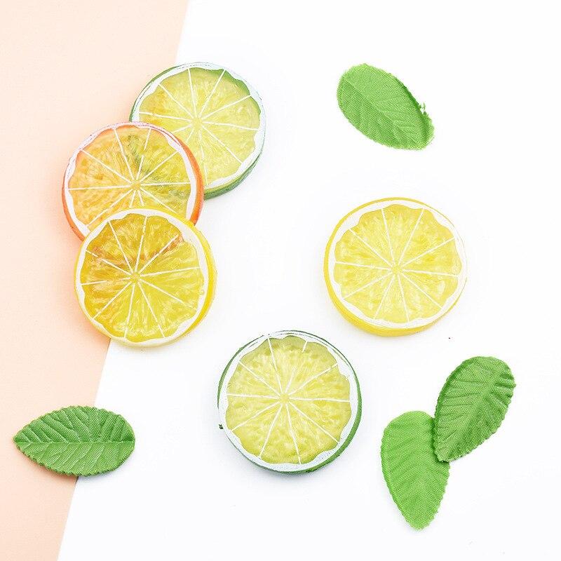Artificial Lemon Piece Simulation Lemon Slices PVC Fake Fruits Model Kitchen Home Shop Decoration(China)