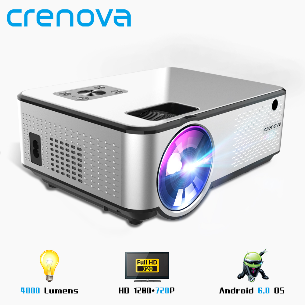 CRENOVA Home Cinema Led-Projector Videos Movie HDMI 4K 1280--720p Support Via Android title=