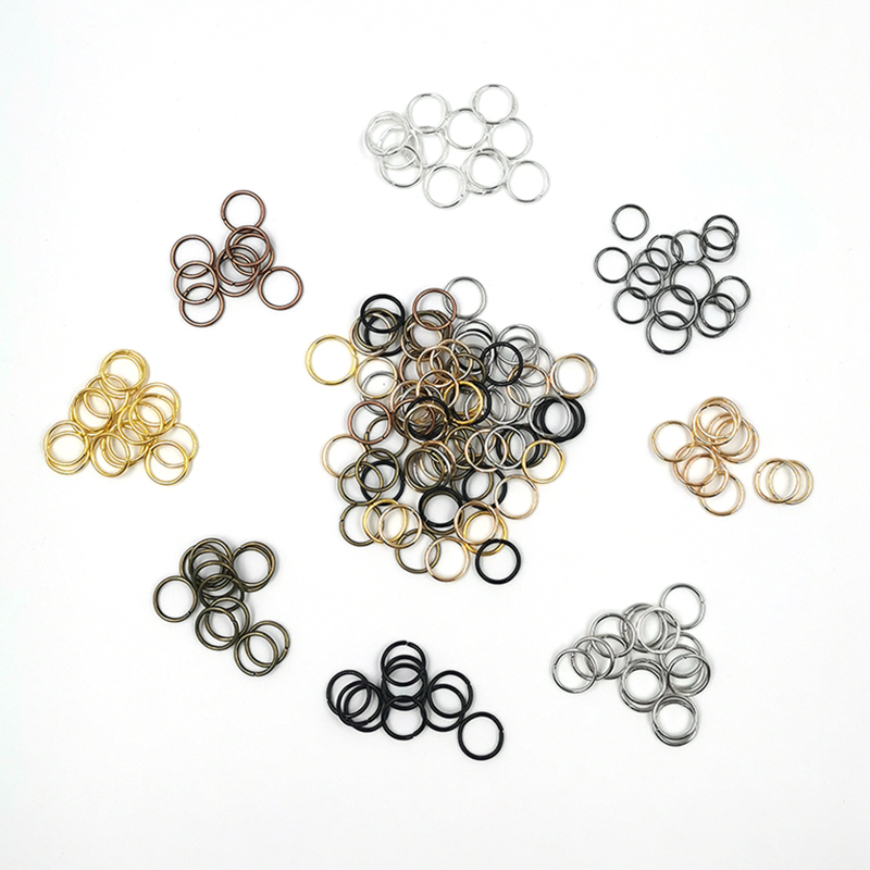 200Pcs/Lot 6mm Single Loop Open Jump Rings Diy Jewelry Making Accessories Split Rings Connectors For Jewelry Making Supplies