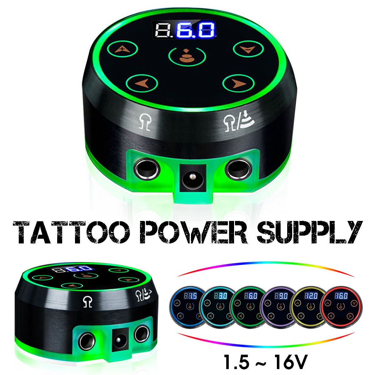 New Professional Mini LCD Display Dual Mode 6 Gears Tattoo Power Supply for <font><b>AURORA</b></font> II Tattoo Machines With Power Adaptor image