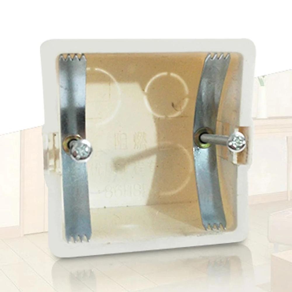 10pcs 86 Type Dark Box Repair Screw Manganese Steel Replace Old Junction Box Fixed Wall Switch Socket Mount Box Cassette Repair