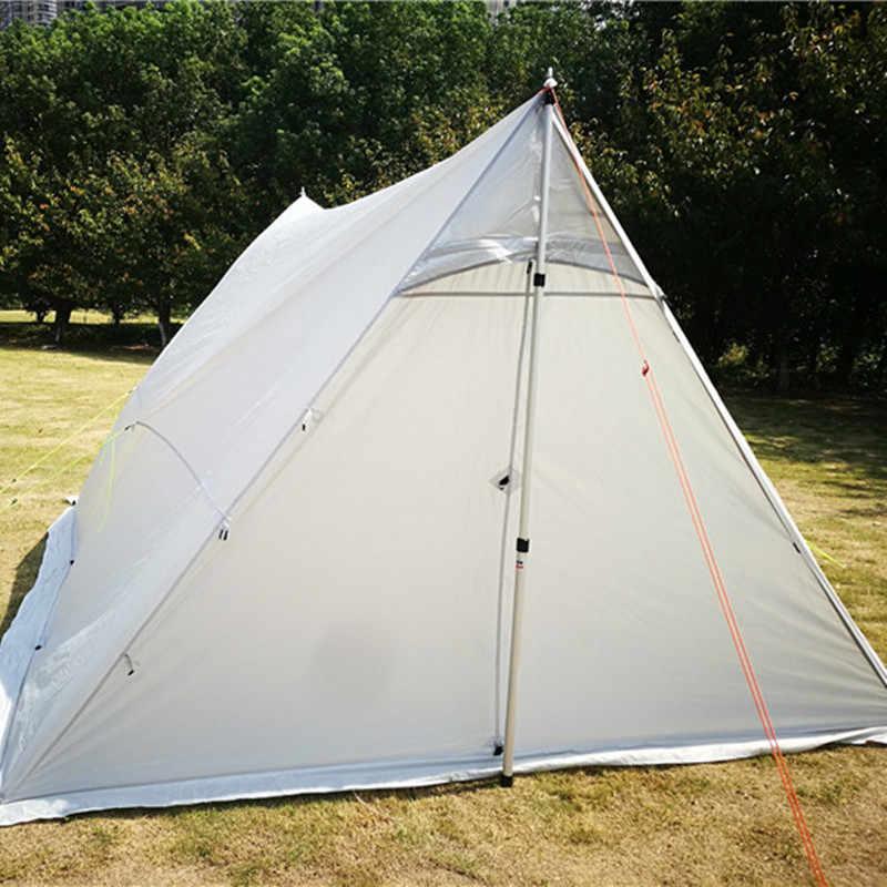 6-10 osób Ultralight Outdoor Camping Teepee piec na drewno piec grzewczy namiot Outdoor survival namioty turystyczne