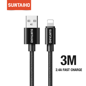 Suntaiho 3M USB Fast Charger Cable for iPhone 11 Pro max Xs Xr X 8 7 6 Plus 6s 5s Plus USB Charging Cables for iPhone Charger