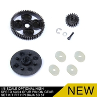 1/5 Scale Optional High Speed 50/24 Spur Pinion Gear Set Kit fit HPI BAJA 5B 5T RC Gas Dragster RC Cars Parts Accessories