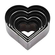 7 pièces 20 50mm en forme de coeur en cuir découpe artisanat cuir bricolage coupe moule bricolage en acier lame cercle en forme de coupe artisanat Die