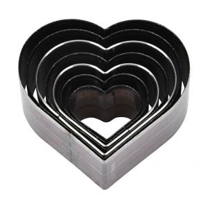 Image 1 - 7Pcs 20 50mm Heart Shaped  Leather Cutting Die DIY Leather Craft Cutting Mold DIY Steel Blade Circle Shaped Cutter Craft Die