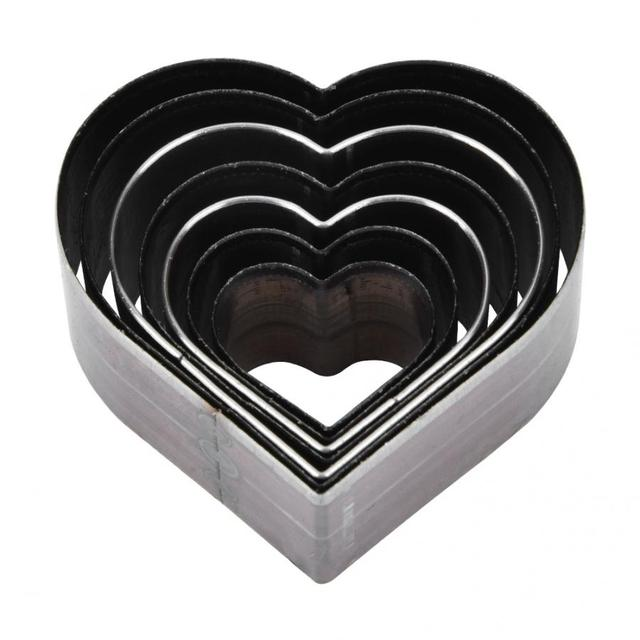 7Pcs 20 50mm Heart Shaped  Leather Cutting Die DIY Leather Craft Cutting Mold DIY Steel Blade Circle Shaped Cutter Craft Die