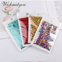 WISHMETYOU 10G/PC Stars Sequins Crystal Mud Manual Materials Sparkling Paillettes Crafts Four-Pointed Star Nails Flash Powder