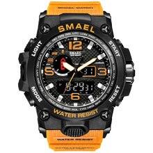Smael – montre de Sport pour hommes, étanche 50m, à Quartz, antichoc, 1545, 2021