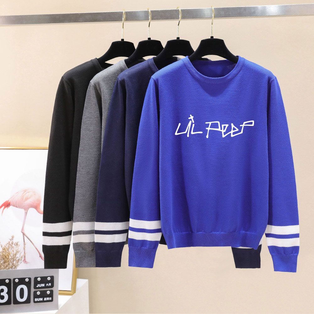 Brand Designer Lil Peep Sweater 2019 Autumn Men/Women Sweater Soft Knittwear Unisex Lil Peep Sweaters High Quality Women Clothes