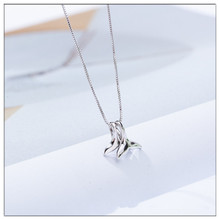 2019 womens necklace 925 sterling silver pendant Dolphin tail plated platinum Collarbone chain