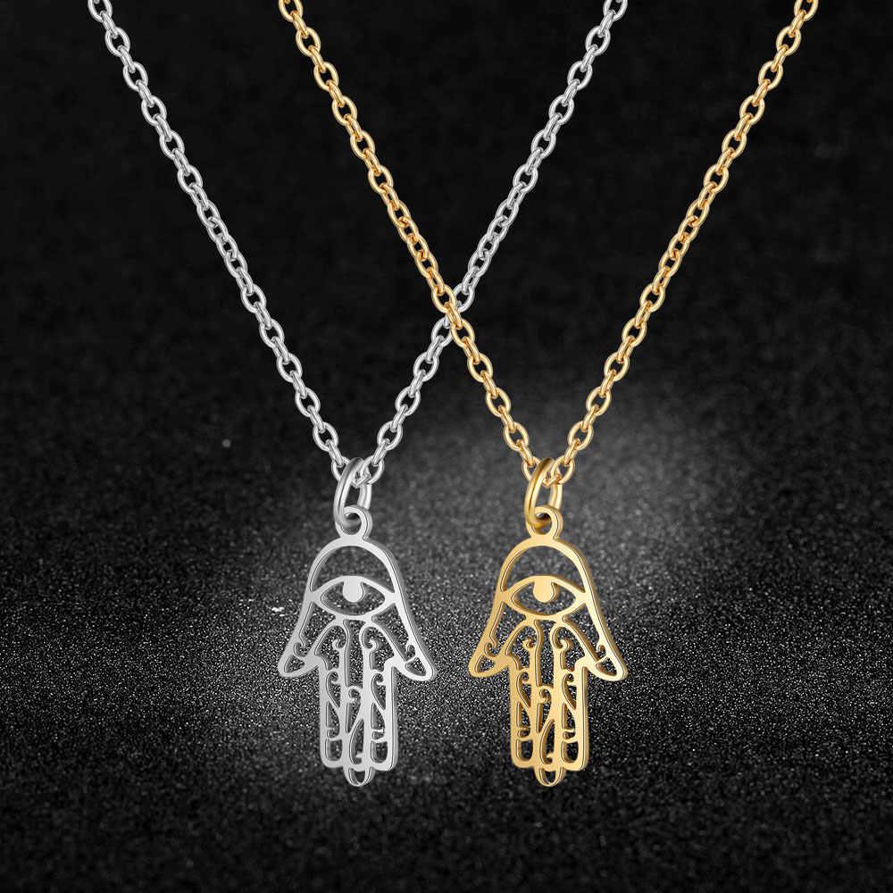 Jakość AAAAA 100% ze stali nierdzewnej Hansa ręcznie urok naszyjnik dla kobiet moda urok naszyjniki specjalny prezent hurtownie