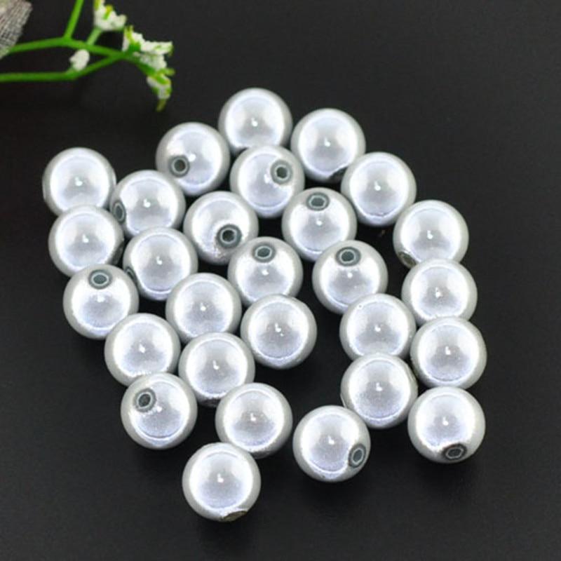 2.5mm hole size 5 white round miracle 16mm illusion acrylic beads