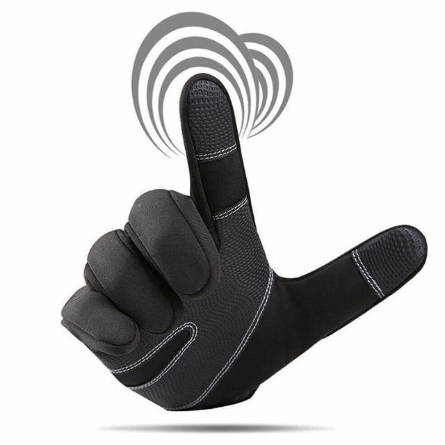 Фото перчатки для мотокросса флисовые ветрозащитные и теплые сенсорные