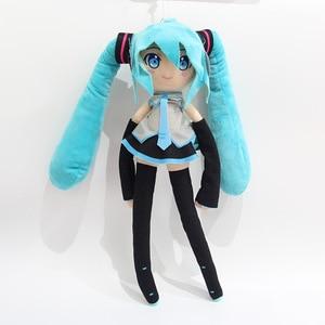 Большая японская Аниме Хацунэ Мику фигма, плюшевые игрушки, большая мягкая кукла, сексуальная девушка, фигура, модель для детей, подарки на д...