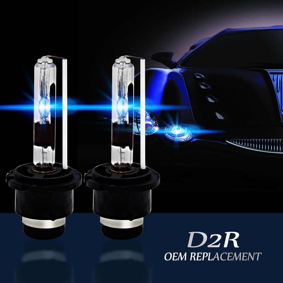 2 adet araba ışık 35W D2R D4S D4R LED ampuller kuvars tüp araba far değiştirme 4300K 5000K 6000K 8000K 10000K 12000K 15000K