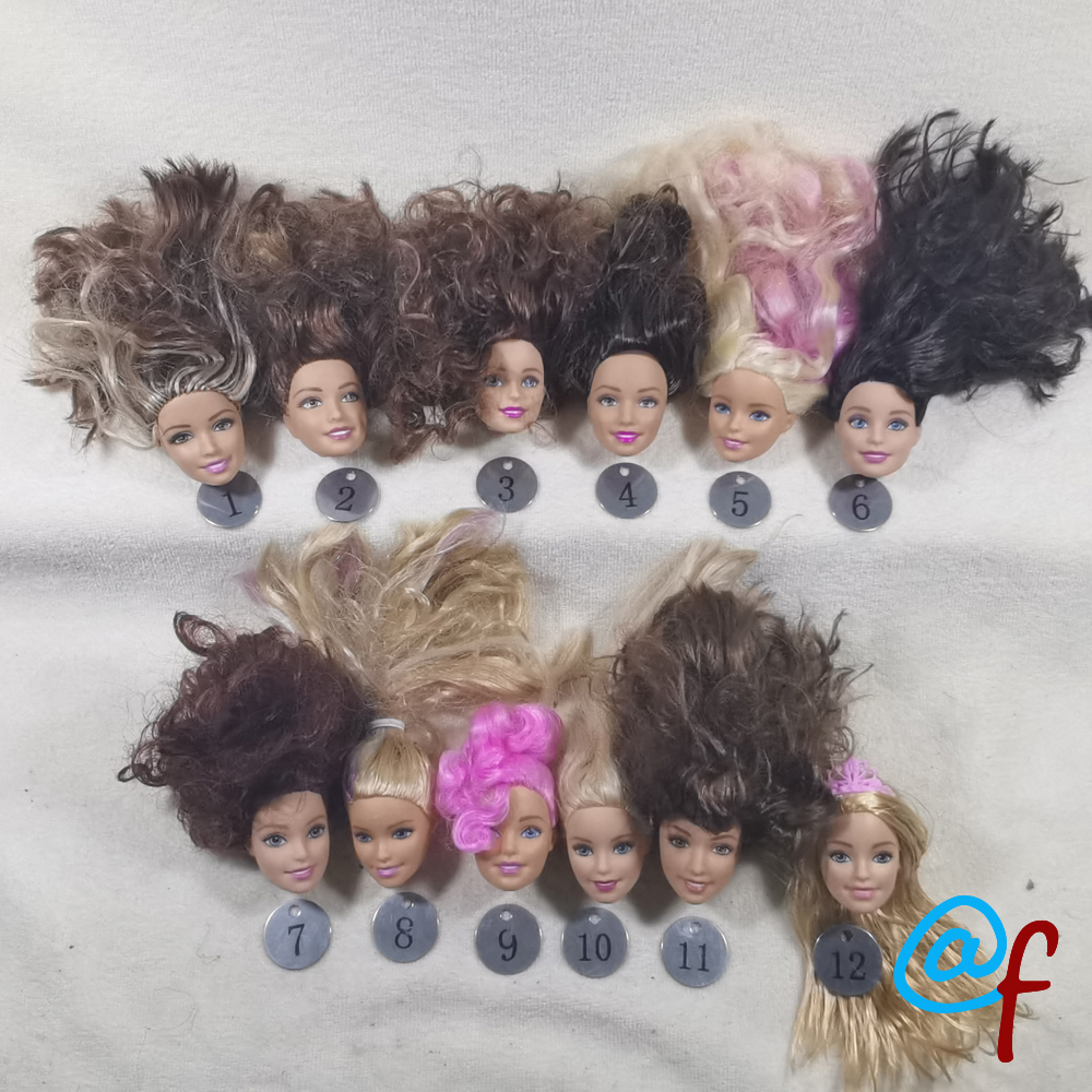 B20-23 Original Foreign Trade European Beauty1/6 OOAK NUDE Doll Head Mussed Hair For DIY Soft PVC Head With Fitting  90%NEW
