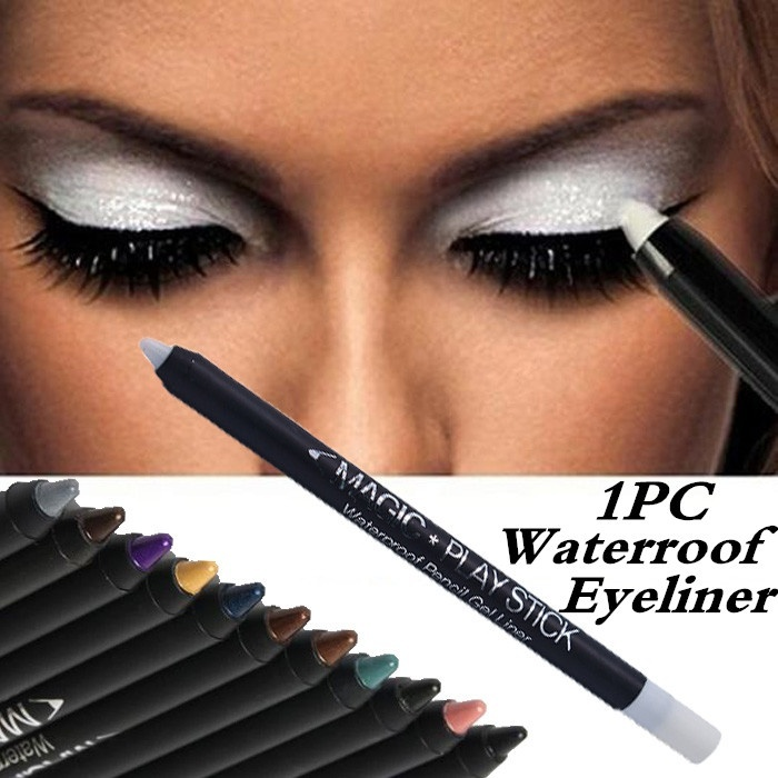 1Pc Color Eyeliner Black White Eyeliner Pencil Waterproof Eyeshadow Pen Precision Long-lasting Eye Liner Smooth Eye Makeup Tools