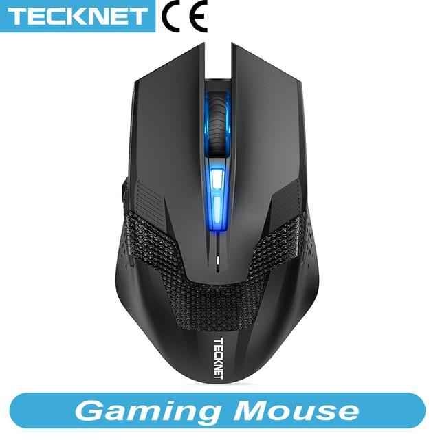 TeckNet 7000DPI Programmierbare Gaming Mäuse Professionelle Gamer Maus RAPTOR Pro Einstellung 8 DPI Ebene Gamer Mäuse für PC Laptop