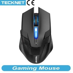 Image 1 - TeckNet 7000DPI программируемая игровая мышь s Профессиональная геймерская мышь RAPTOR Pro Регулировка уровня 8 DPI геймерская мышь для ПК ноутбука