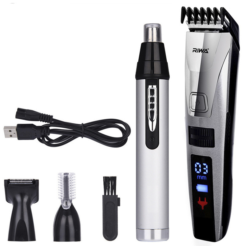 Rechargeable Electric Nose Hair Clipper Eyebrow Adjustable Digital Hair Trimmer Professional Electric Razor Beard Shaver Combs