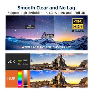 Image 2 - HDMI 케이블 HDMI 2.0a 2.0b, AMPCOM 엔지니어링 시리즈 4K HDMI 2.0 케이블 지원 3D 이더넷 HDR 4:4:4 HDTV PS4 PS3