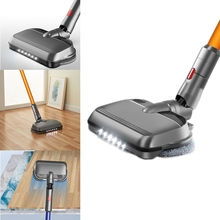 Upgraded Electric Wet Dry Mopping Brush Head with LED Light for Dyson V7 V8 V10 V11 Replacement Parts with Mop Pads