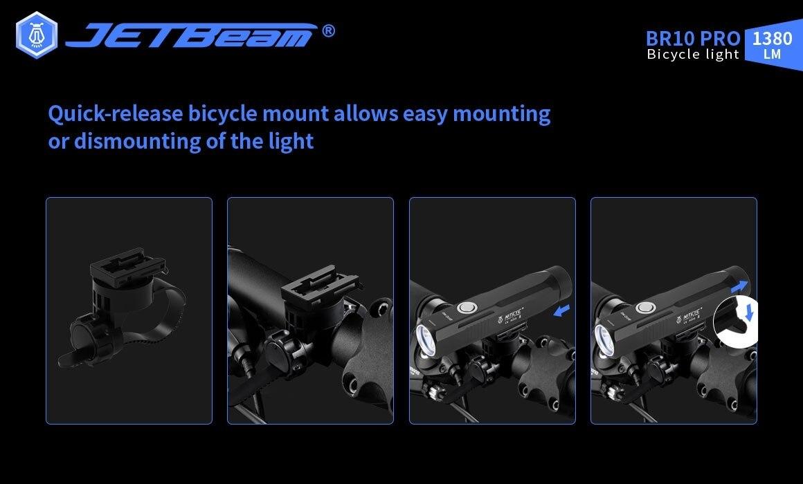bolso para bicicleta com lâmpada de emergência