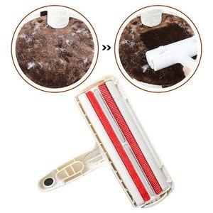 Removedor de pelo de mascotas de 2 vías, rodillo de pelusa adhesivo, removedor de pelo de gato de perro de muebles, alfombras, ropa, una mano, funciona