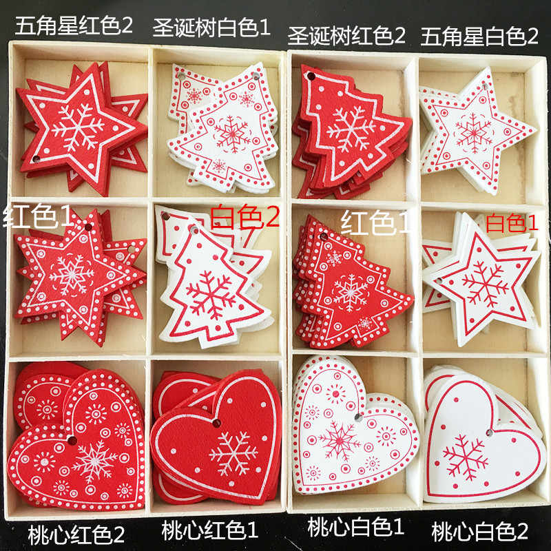 Crafts creative wooden Christmas gifts interior decorations home accessories DIY accessories christmas decorations