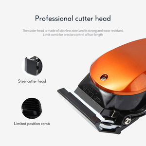 Image 4 - Kemei profissional máquina de cortar cabelo comprimento ajuste com fio aparador elétrico poderoso lâmina aço inoxidável máquina corte cabelo 35d