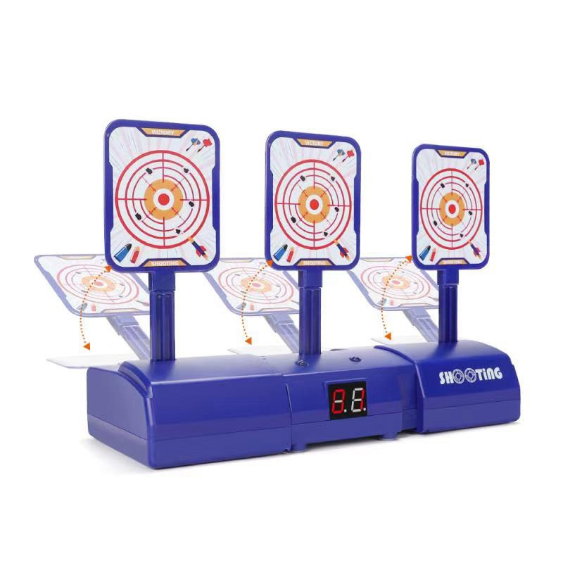 Auto Electronic Digital Target,Reset Target Toy Electronic Target With Sound Effects And Game Light For Nerf Elite / Mega / Riva