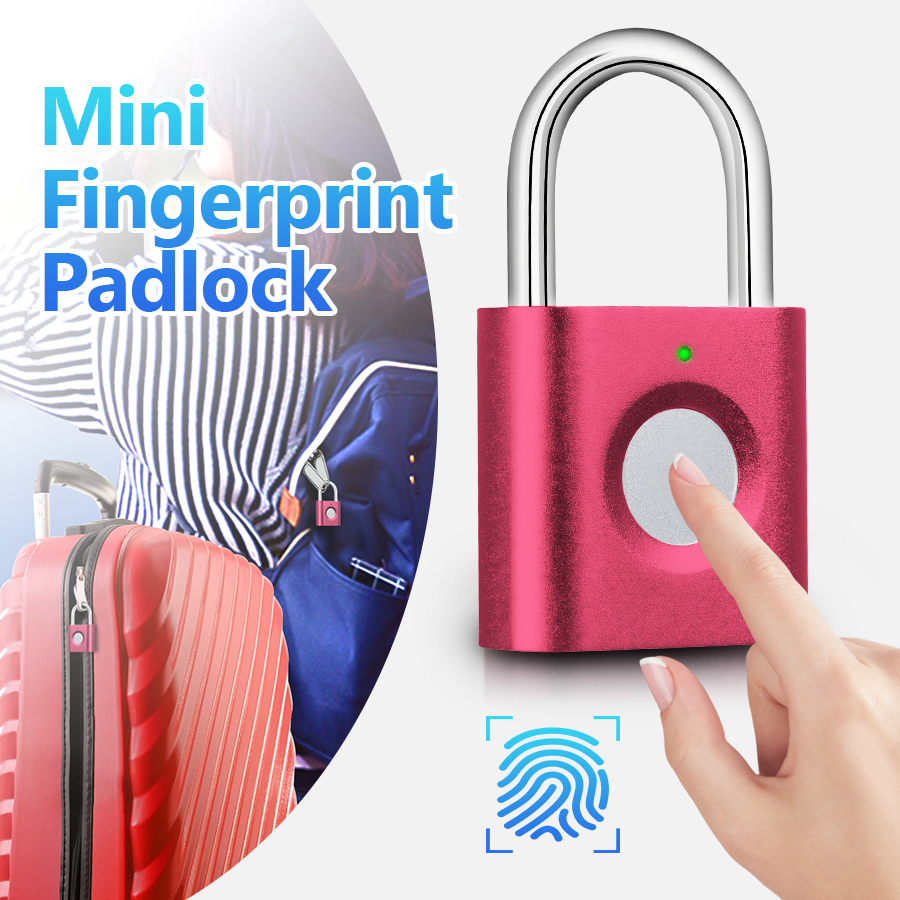 KERUI P3 Mini Anti-theft Intelligent Smart Security Fingerprint Padlock Suitcase Luggage Door Electric Electronic Lock Keyless