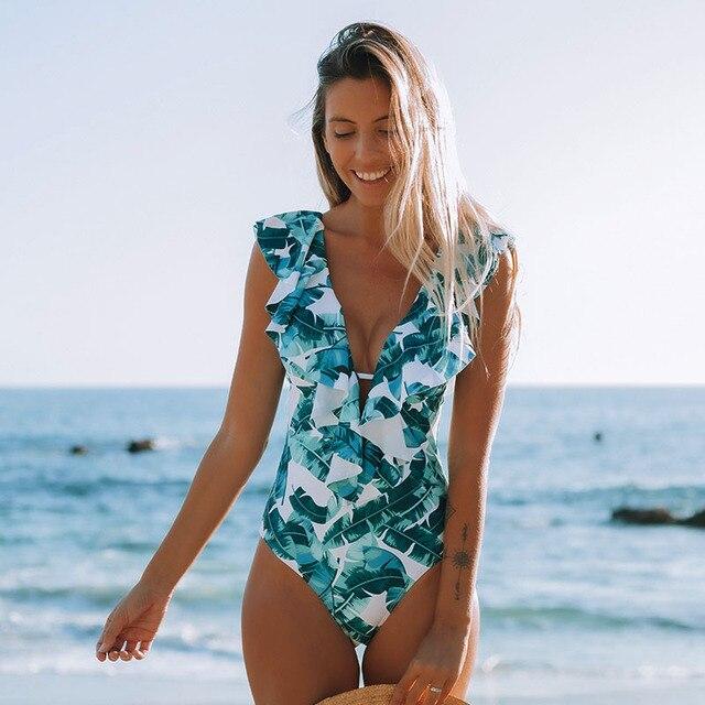 2019 Sexy One Piece Swimsuit Push Up stroje kąpielowe kobiety wzburzyć Monokini regulowany strój kąpielowy body strój kąpielowy strój kąpielowy