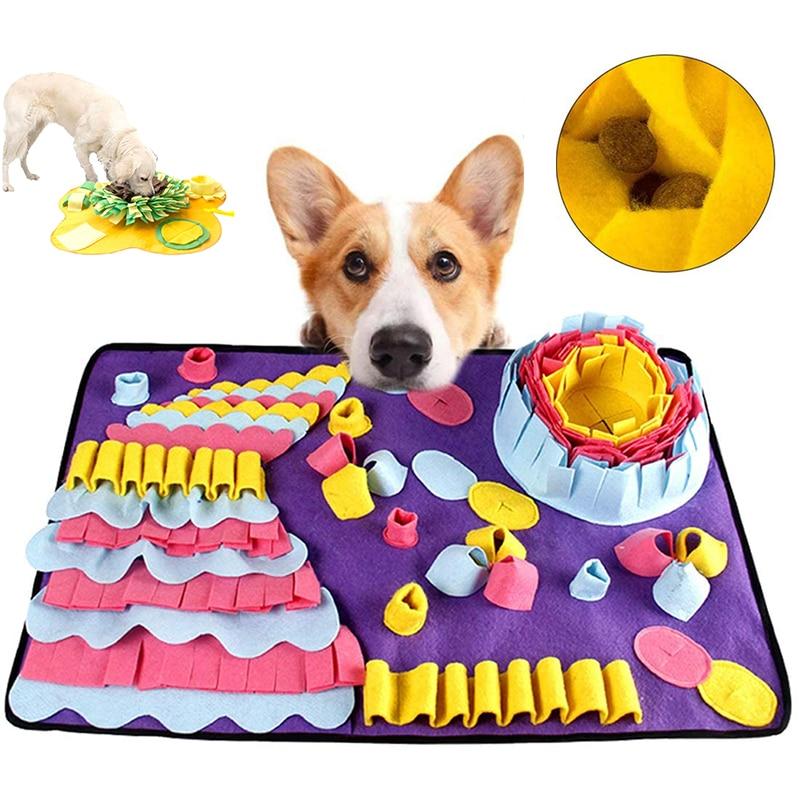Tapis de respiration pour animaux de compagnie, tapis d'alimentation pour chiens et chats, Puzzle, formation alimentaire, travail du nez, tapis d'activité pour les compétences de recherche